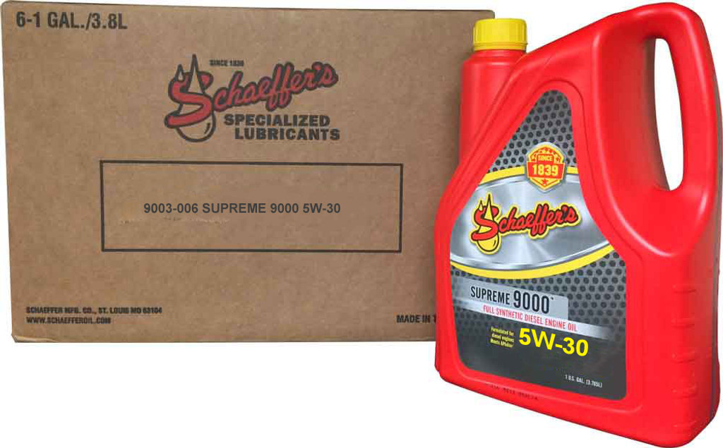 Schaeffer 9003D-006 Supreme 9000 Full Synthetic Gasoline Engine Oil 5W-30 (6-Gallons)