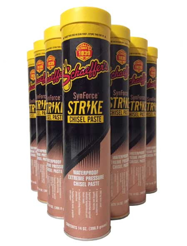 SynForce™ Strike Chisel Paste is an extreme temperature and pressure, shock load, para-synthetic, antiwear aluminum complex grease specifically formulated for use in hydraulic hammer, breaker and chisel applications. 10 Tubes