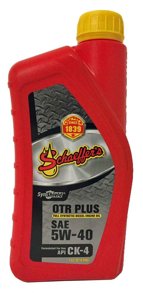Schaeffer 9000-0012S SynShield® OTR Plus Full Synthetic CK-4 5W-40 (1-Quart)