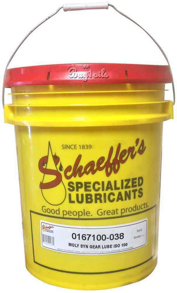 Schaeffer 0167100-038 Moly Full Synthetic Gear Lube ISO 100 (38-lbs pail)
