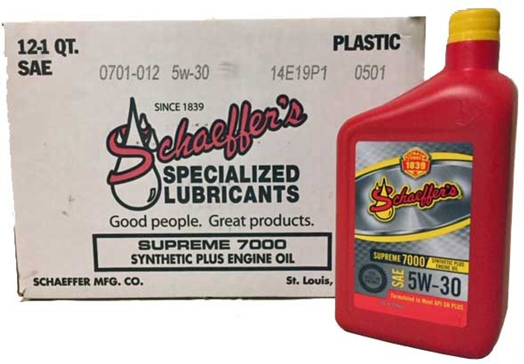 Schaeffer 0701-012 Supreme 7000 Synthetic Plus Gasoline Engine Oil 5W-30 (12-Quarts)