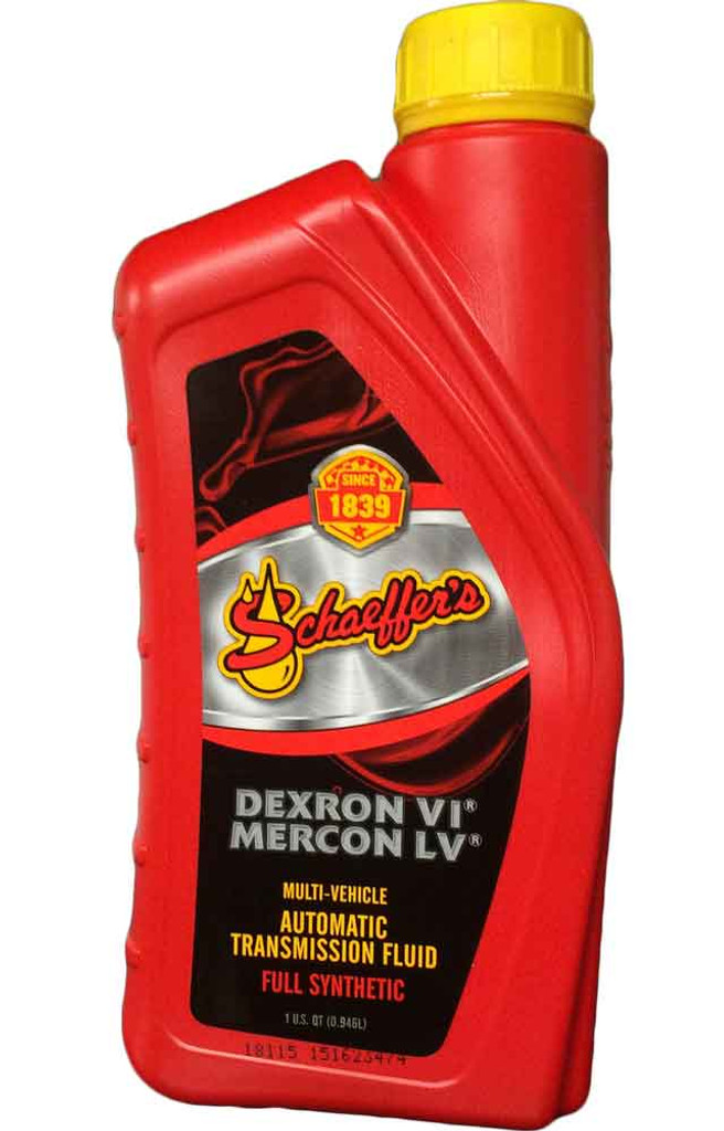 Schaeffer's 205A Dexron VI/MERCON LV Automatic Transmission Fluid is formulated with a special blend of synthetic base oils, a highly shear stable viscosity improver, and a multi-functional additive package.