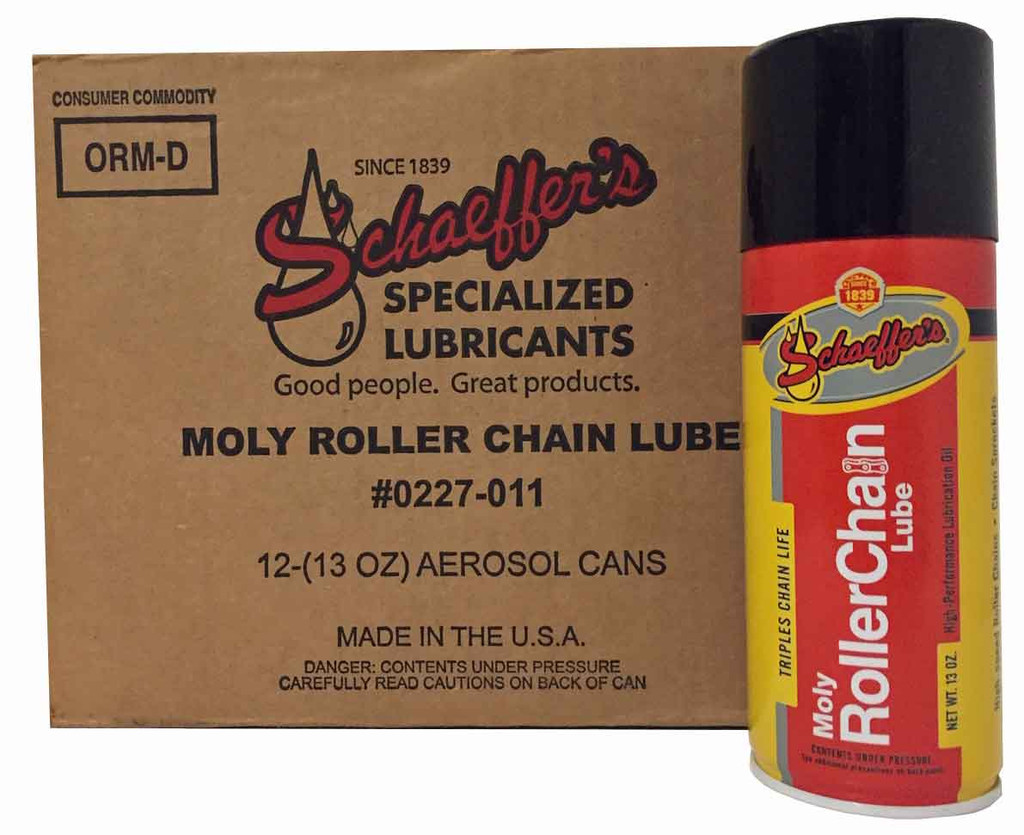 Schaeffer 0227-011 Moly Roller Chain Lube (12-13 oz. Can case)