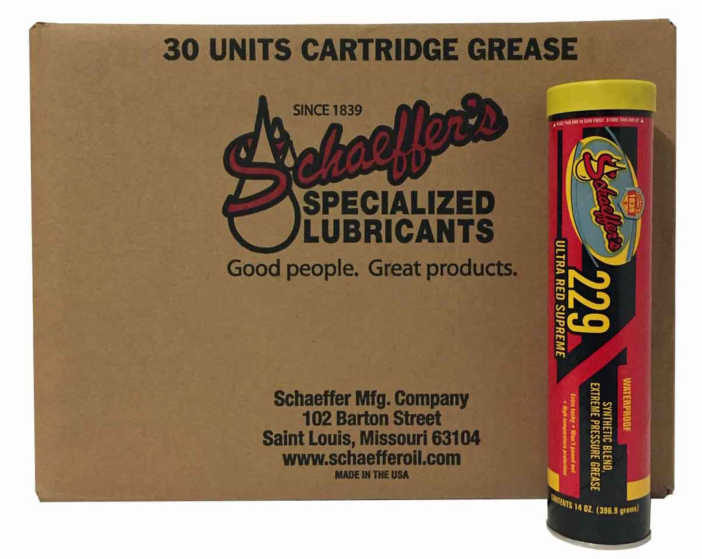 Schaeffer 02292-029 Ultra Red Supreme Moly Grease NLGI #1 or #2 (30-Tubes)