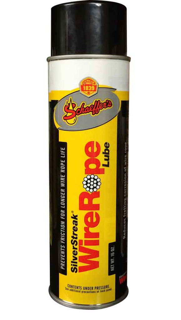 Schaeffer's 199 Silver Streak® Wire Rope Lubricant is a robust, heavy-duty lubricant that extends the service life of wire ropes.
