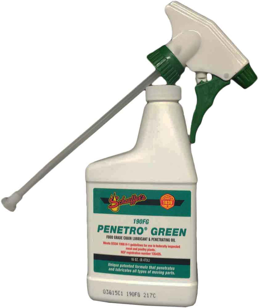 Schaeffer 0190FG-014 Penetro Green Food Grade Penetrating Oil H-1 (1-16oz bottle)