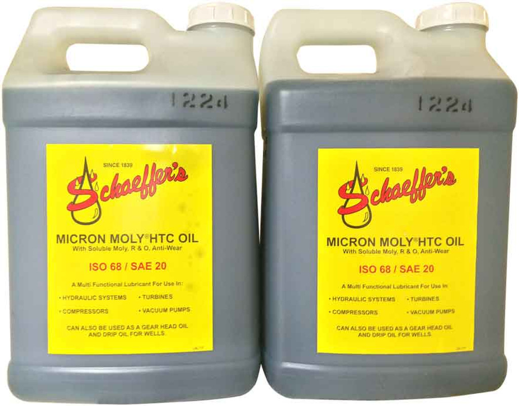 Schaeffer's 112 HTC Hydraulic Oil ISO 68 has a unique formula that delivers many benefits to prevent unnecessary maintenance and downtime. 2x2.5 Gallons