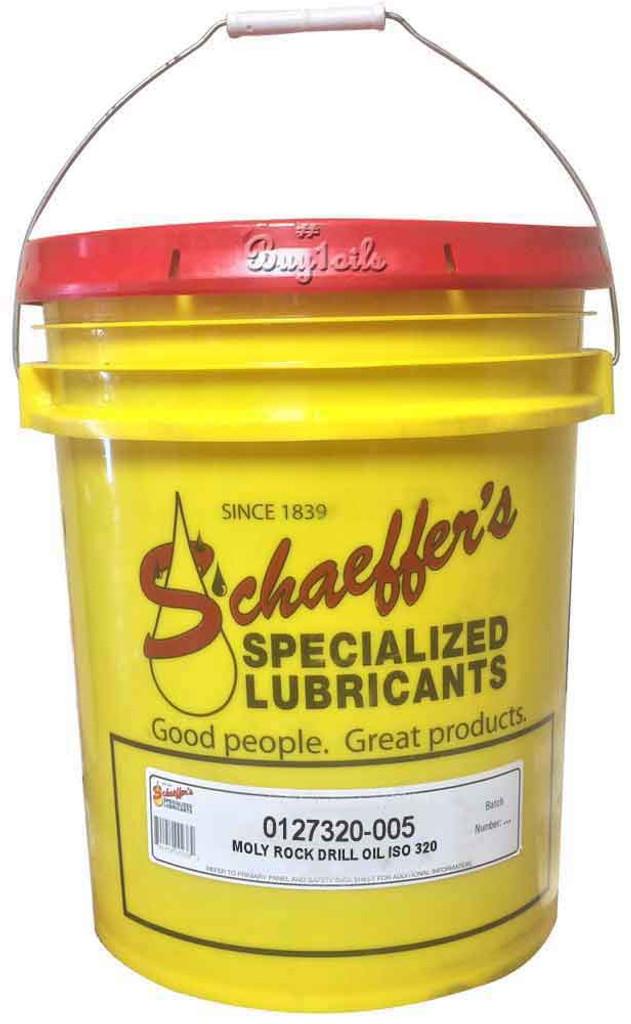 Schaeffer 0127320-005 Moly Rock Drill Oil ISO 320 (5-Gallon pail)