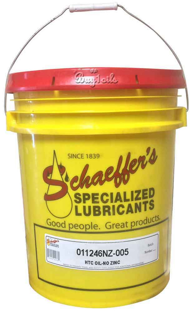 Schaeffer 0112NZ46-005 HTC Hydraulic Oil (No Zinc) ISO 46 (5-Gallon pail)