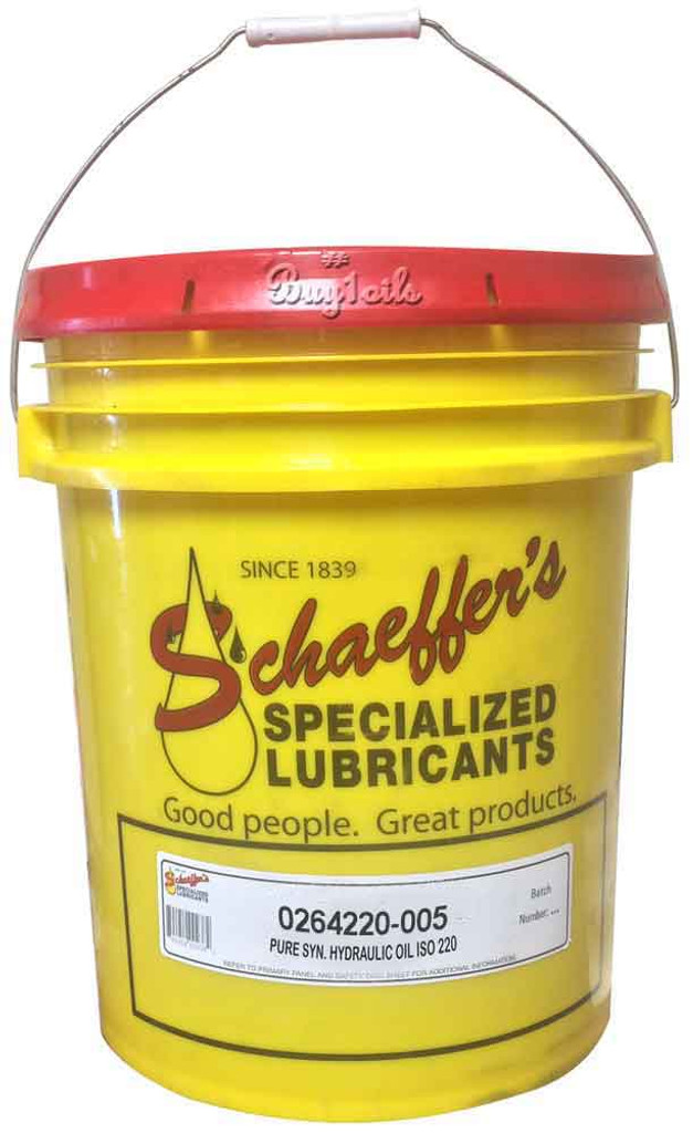 Schaeffer 0264220-005 Pure Synthetic Hydraulic Oil ISO 220 (5-Gallon pail)