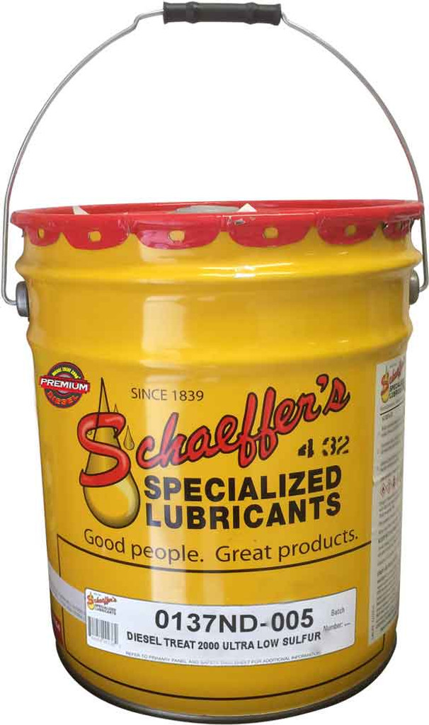 Schaeffer's 137ND Diesel Treat 2000 Ultra Low Sulfur is an ashless, all-season fuel additive formulated for use with all types of diesel fuel, especially low sulfur and ultra low sulfur diesel fuels.  5 gallons