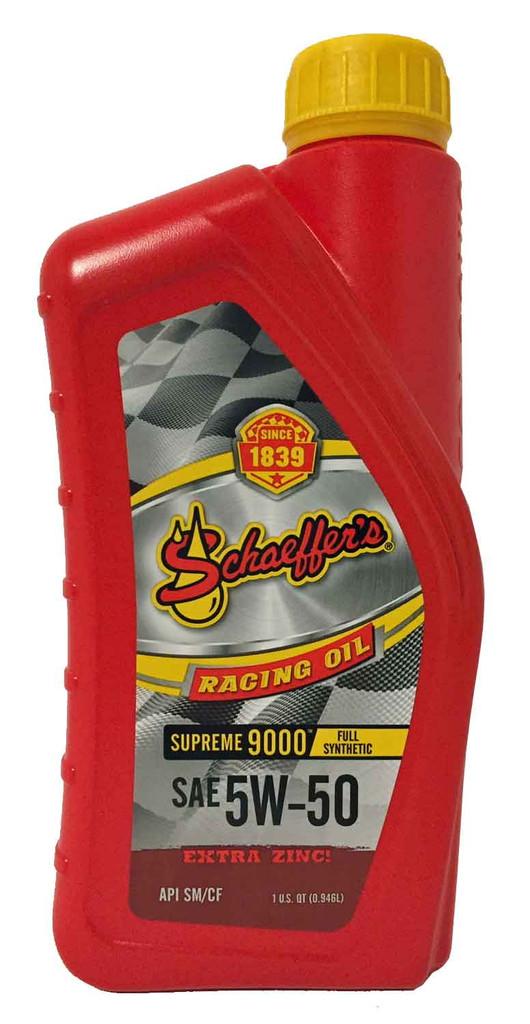 Schaeffer 9001-012S Supreme 9000 Full Synthetic Racing Oil 5W-50 (1-Quart)