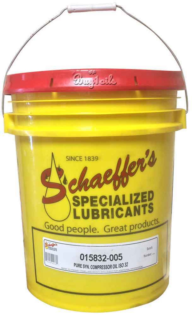 Schaeffer 015832-005 Pure Synthetic Compressor Oil ISO 32 (5-Gallon pail)