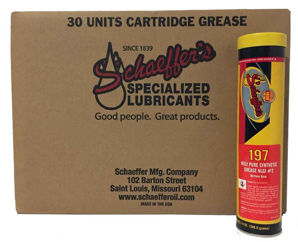 Schaeffer 0197-029 Moly Pure Synthetic Bentone Grease NLGI #2 (30-Tubes)
