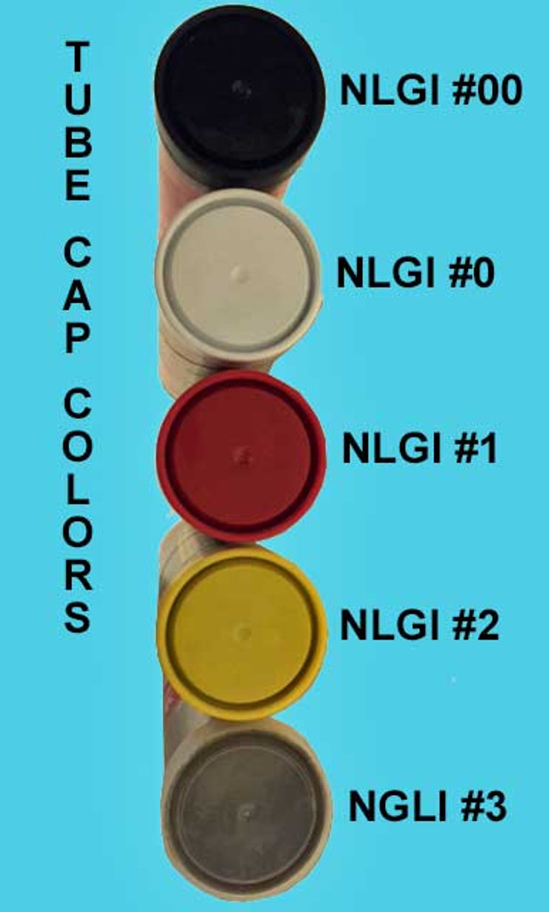 Schaeffer's grease color caps for NLGI.