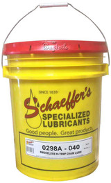 Schaeffer's 298A Smokeless Hi-Temp Chain Lube (no tack) is a fully synthetic smokeless chain lubricant that is specially formulated for use as a lubricant on all types of high temperature chains. 5 gallons