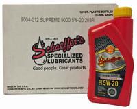 Schaeffer 9004-012 Supreme 9000 Full Synthetic Gasoline Engine Oil 5W-20 (12-Quarts)
