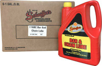 Schaeffer's 116BC Bar & Chain Lube is a premium quality wide temperature range, para synthetic, tacky, heavy-duty, anti-wear oil that is designed for use in the lubrication of chain saw bar and chains, slides and saw-guides. 6 gallon case