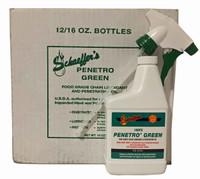 Schaeffer 0190FG-014 Penetro Green Food Grade Penetrating Oil H-1 (12-16oz bottle case)