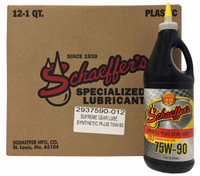 Schaeffer 02937590-012 Supreme Gear Lube 75W-90 (12-Quart case)