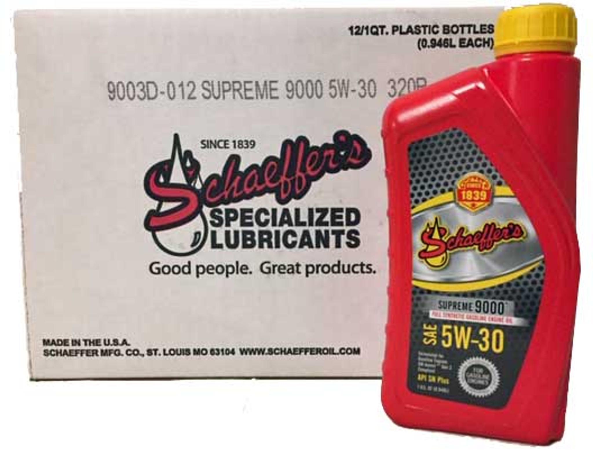 Schaeffer's 9003D SAE 5W-30 Supreme 9000 Full Synthetic
