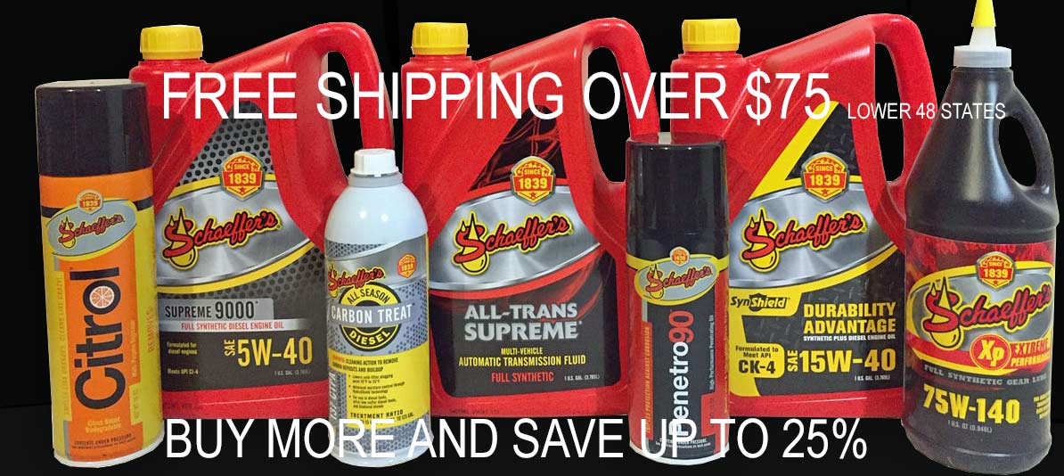 Buy1oils: Schaeffer's Specialized Lubricants Full Line Of
