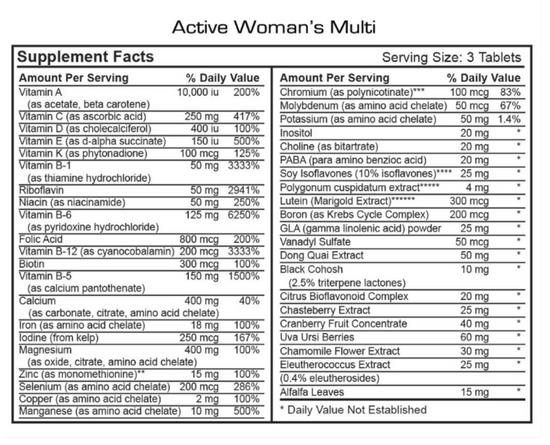 Active Women's Formula - 30 Servings