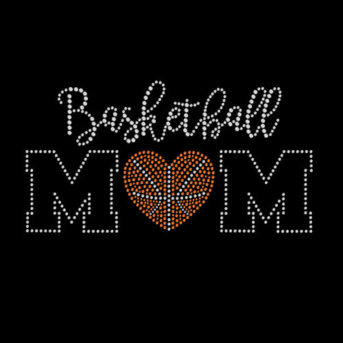 Basketball Mom Heart