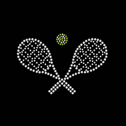Crossed Racquets Left Chest- 5 Pack