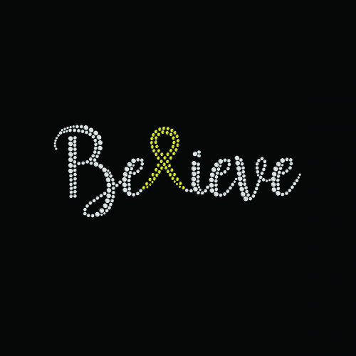 Believe Ribbon Yellow - 5 Pack