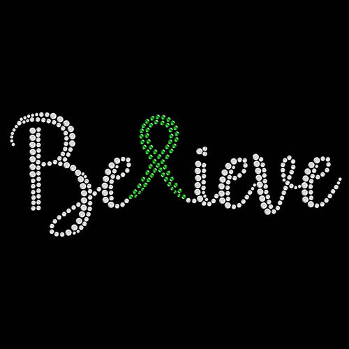 Believe Ribbon Green - 5 Pack