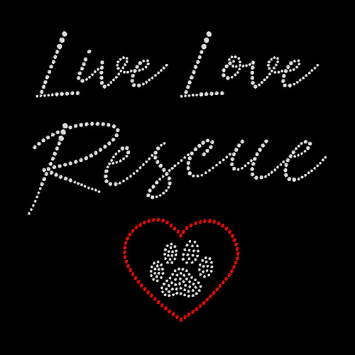 Love Rescue Paw Red