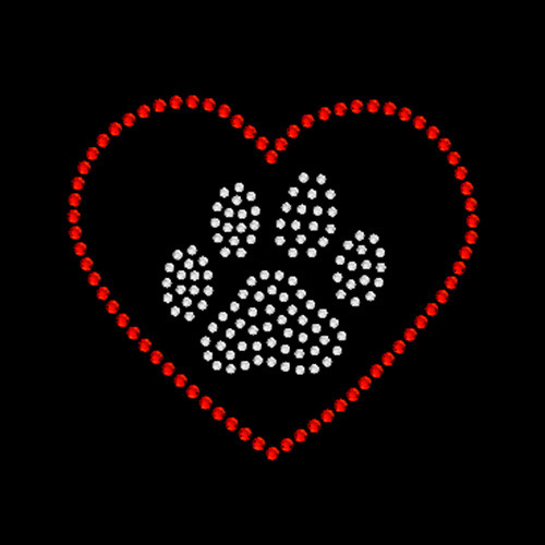 Paw Heart Red - 5 Pack