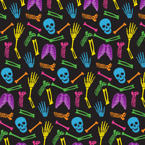Skeleton Neon Bones Black PSV