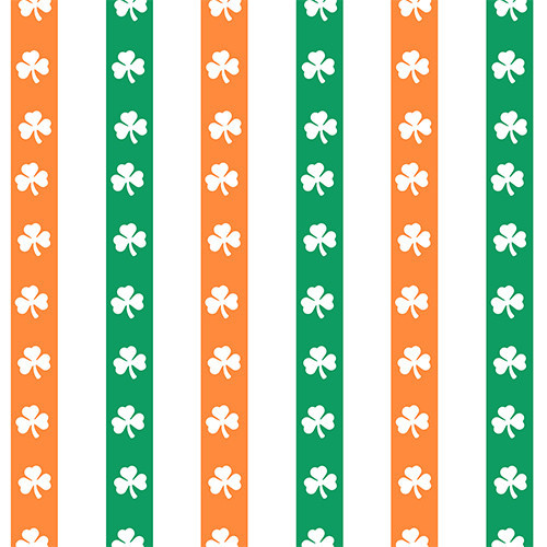 Irish Flag White Shamrocks HTV