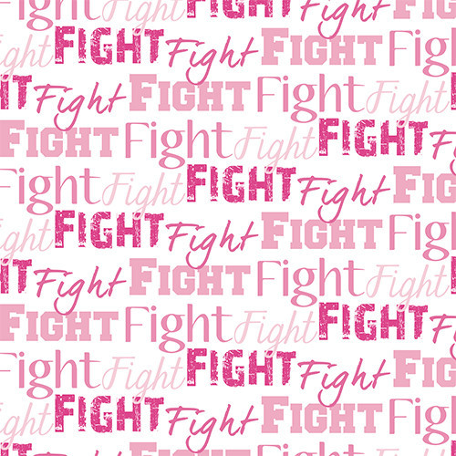 Fight Text Pink HTV