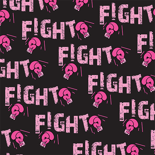 Fight Cancer Pink/Black HTV