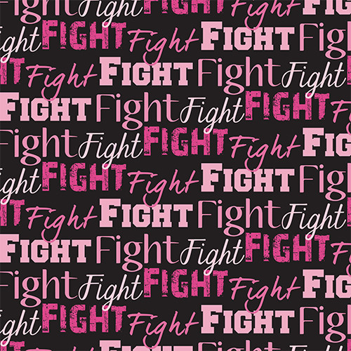 Fight Text Pink/Black HTV