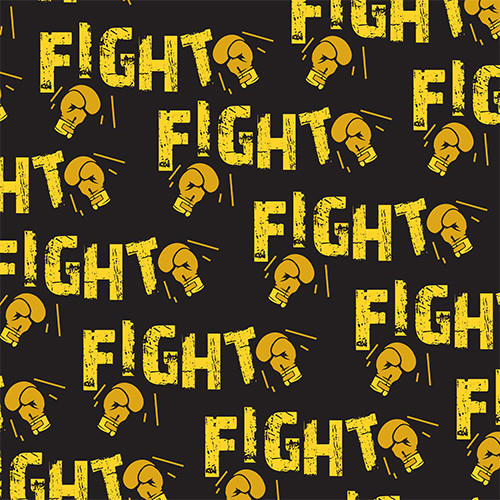 Fight Cancer Yellow Black HTV