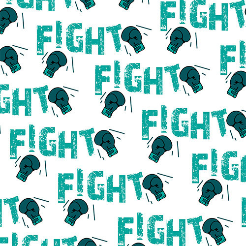 Fight Cancer Teal HTV