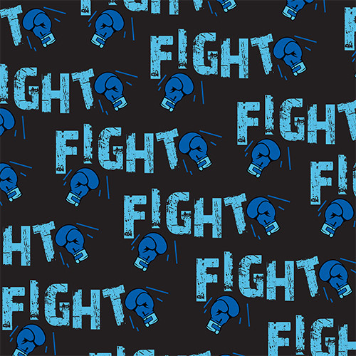 Fight Cancer Blue/Black HTV