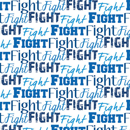 Fight Text Blue HTV