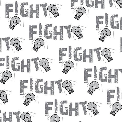 Fight Cancer Grey HTV