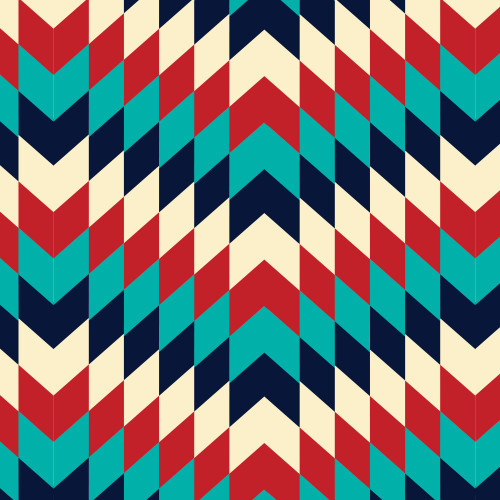ZigZag Blue/Red HTV