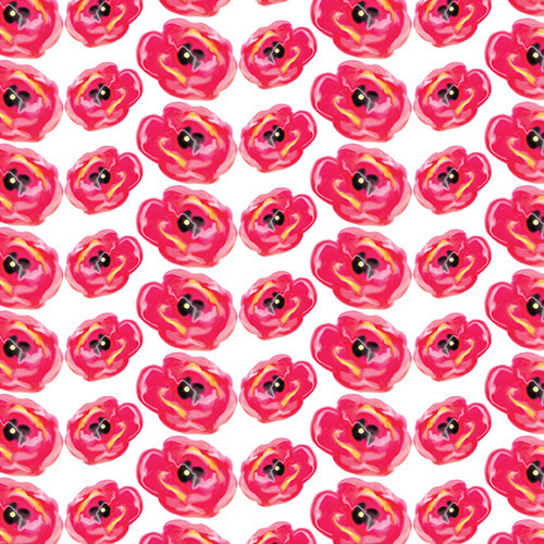 Painted Pink Poppies HTV