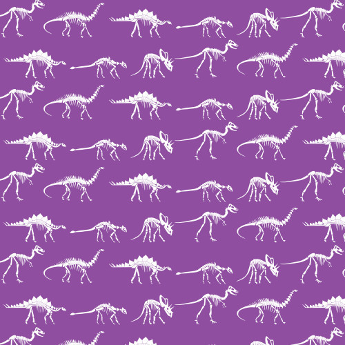 Dinosaur Bones on Purple HTV