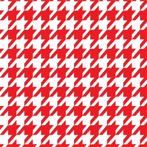 Houndstooth Red HTV
