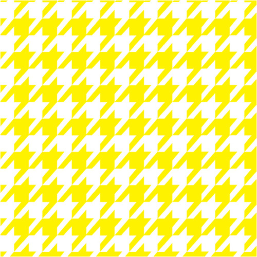 Houndstooth Yellow HTV