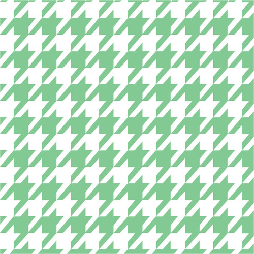 Houndstooth Mint HTV