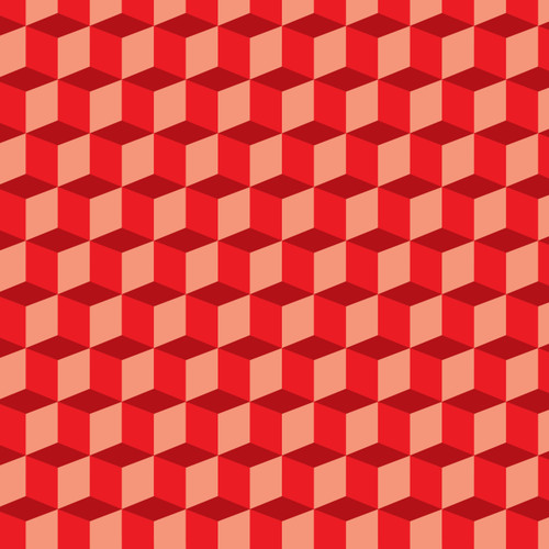 Illusion Cubes Red HTV
